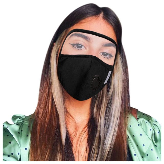 Activated Carbon FilterMask With Protective Glasses