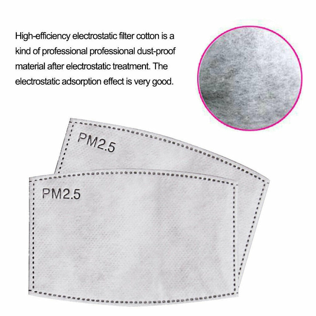 3 Piece Children's Activated Carbon Filter Masks with FaceShield
