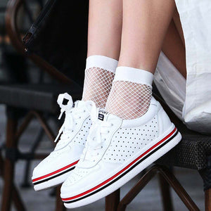 Ankle-High Fishnet Socks For Women