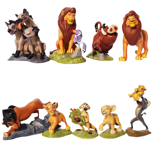 9PCS/SET THE LION KING SIMBA NALA TIMON MODEL PVC FIGURES
