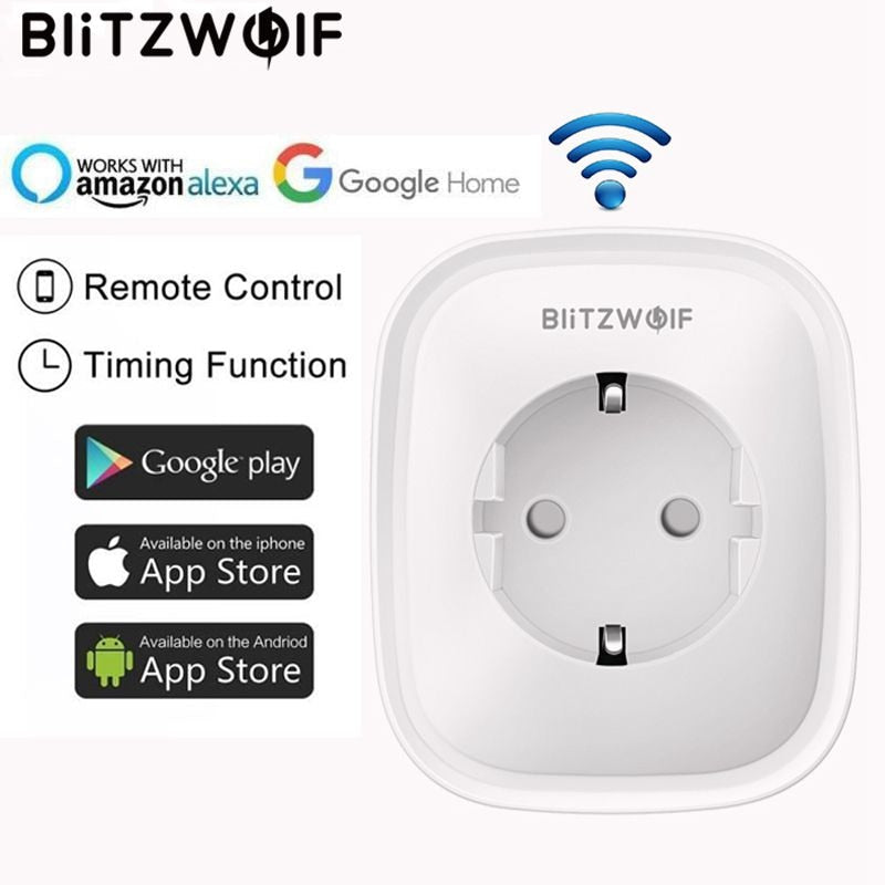 Smart Socket EU Plug Work For Amazon Alexa/Google Assistant