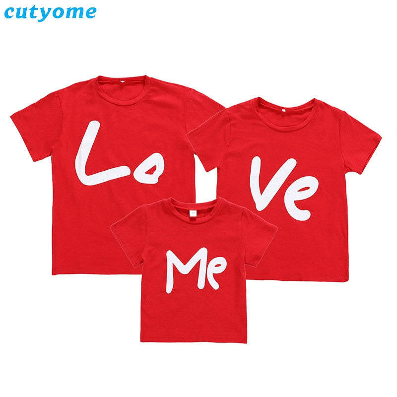Family Matching Love Me T-shirt