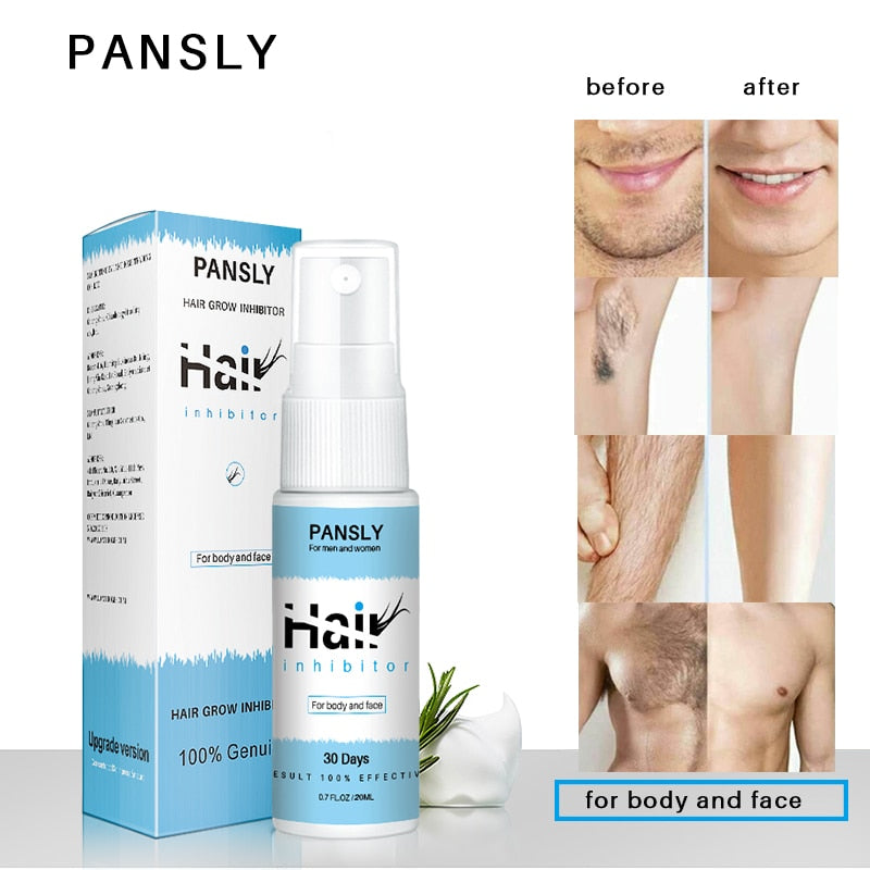 PANSLY Hair Growth Inhibitor Painless Hair Removal spray Shrink Pores for Private Parts Leg Facial Hair Smooth Skin
