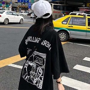 Women T-shirts Streetwear Cartoon Print