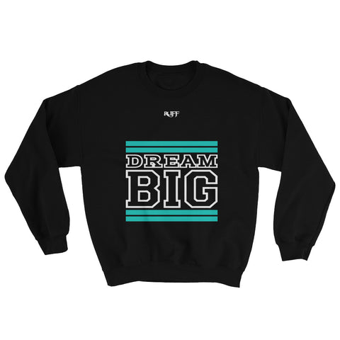 Black Teal and White Sweatshirt
