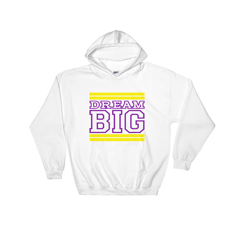 White Yellow and Purple Hooded Sweatshirt