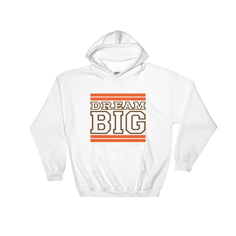 White Orange and Brown Hooded Sweatshirt