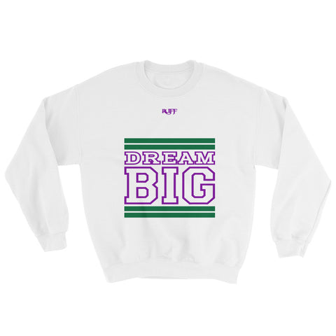 White Green and Purple Sweatshirt