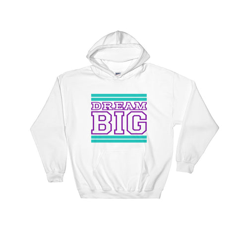 White Teal and Purple Hooded Sweatshirt