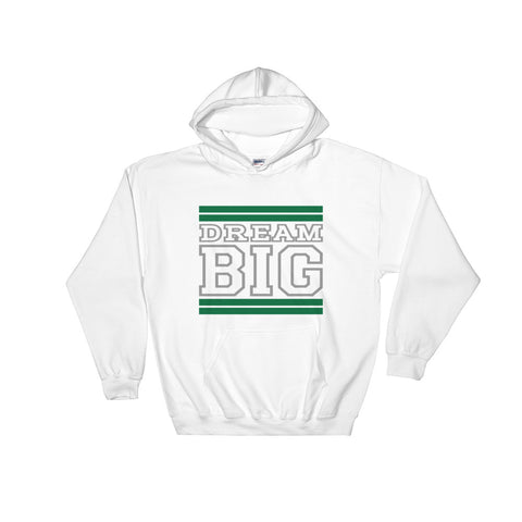 White Green and Grey Hooded Sweatshirt