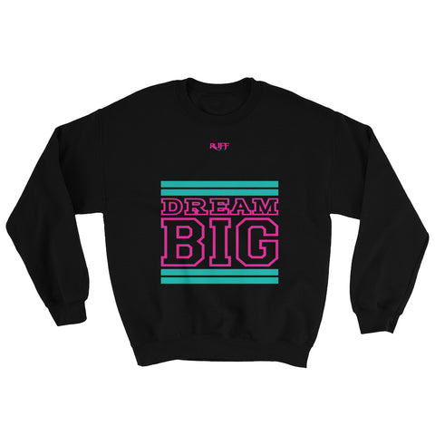 Black Teal and Pink Sweatshirt