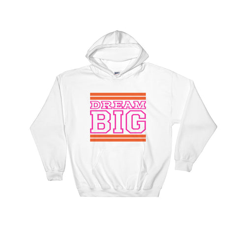 White Orange and Pink Hooded Sweatshirt