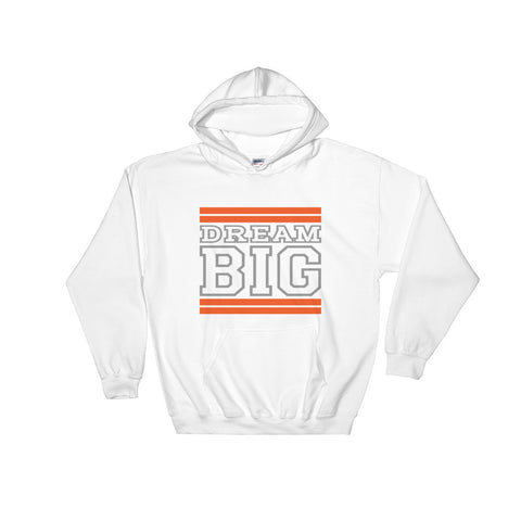 White Orange and Grey Hooded Sweatshirt