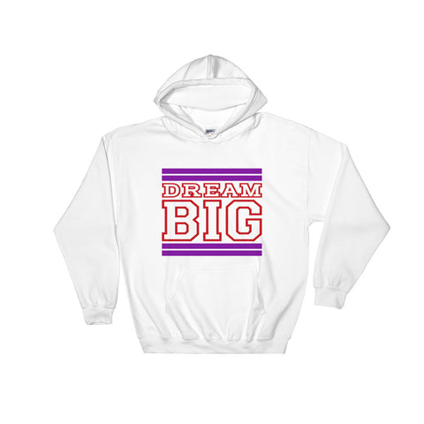 White Purple and Red Hooded Sweatshirt