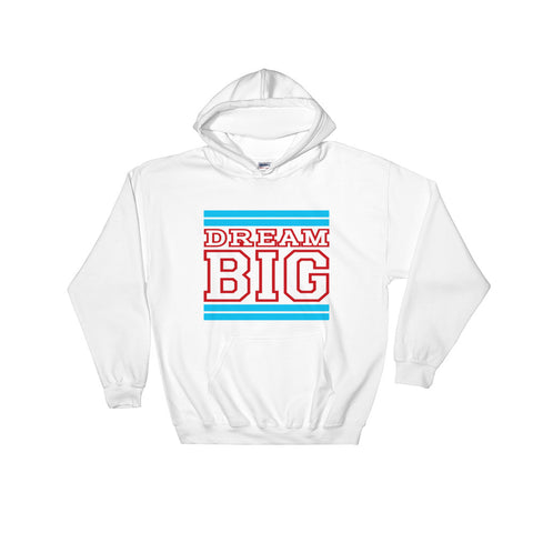 White Carolina Blue and Red Hooded Sweatshirt