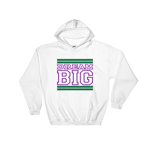White Green and Purple Hooded Sweatshirt