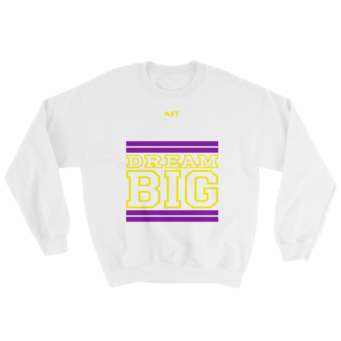 White Purple and Yellow Sweatshirt