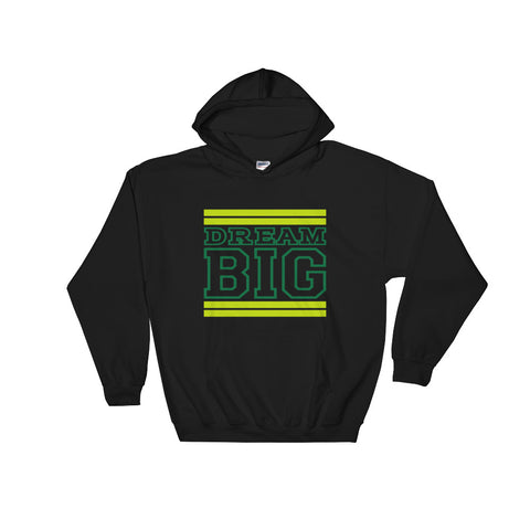 Black Lime Green and Green Hooded Sweatshirt