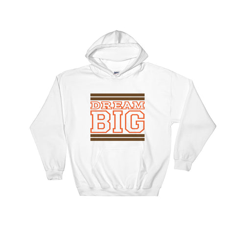 White Brown and Orange Hooded Sweatshirt