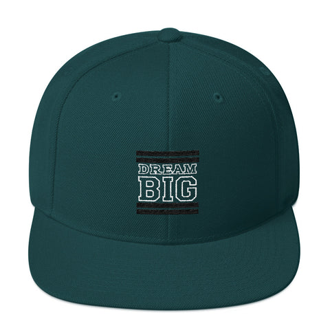 Green and Black Dream Big Snapback Hat
