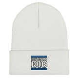 Royal Blue and Black Dream Big Lifestyle Cuffed Beanie