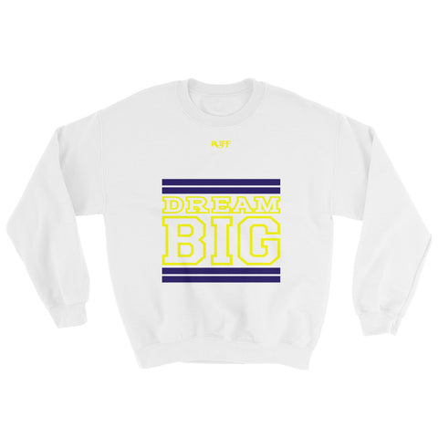 White Navy Blue and Yellow Sweatshirt