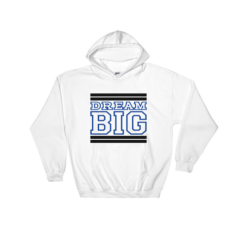 White Black and Royal Blue Hooded Sweatshirt
