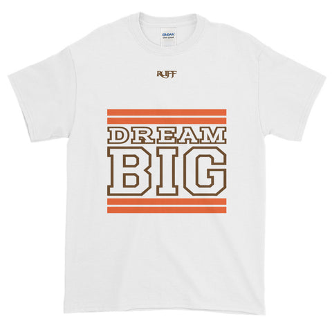 White Orange and Brown Short-Sleeve T-Shirt