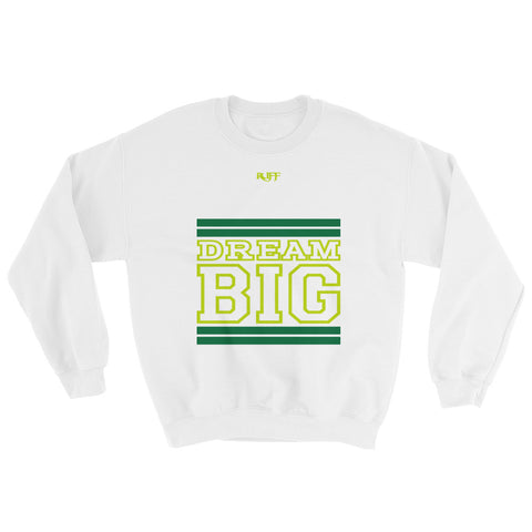 White Green and Lime Green Sweatshirt