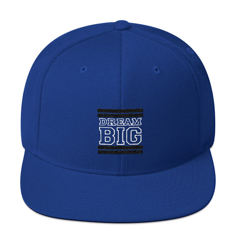 Royal Blue and Black Dream Big Snapback Hat