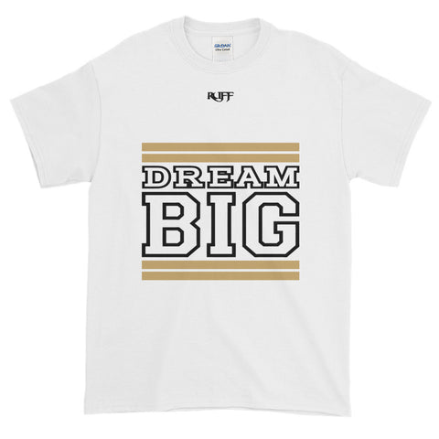 White Tan and Black Short-Sleeve T-Shirt