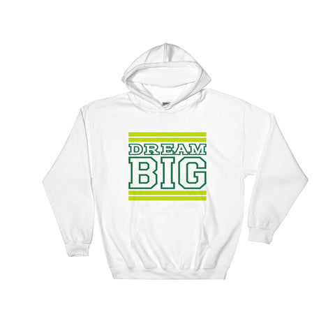 White Lime Green and Green Hooded Sweatshirt