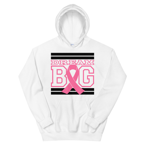 White Black and Pink Breast Cancer Awareness Unisex Hoodie