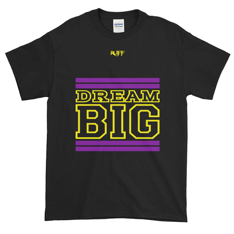 Black Purple and Yellow Short-Sleeve T-Shirt