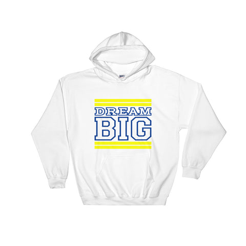 White Yellow and Royal Blue Hooded Sweatshirt