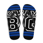Royal Blue and White Dream Big Flip-Flops