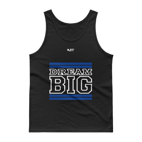Royal Blue and White Dream Big Tank tops