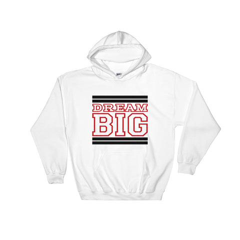 White Black and Red Hooded Sweatshirt