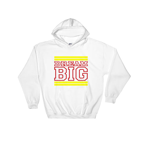 White Yellow and Red Hooded Sweatshirt