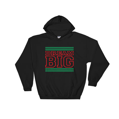 Black Green and Red Hooded Sweatshirt