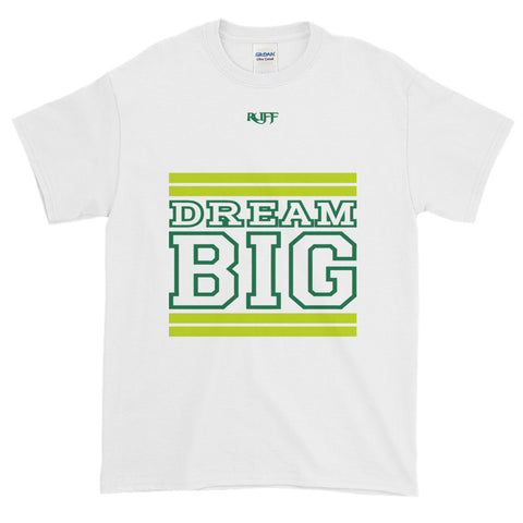 White Lime Green and Green Short-Sleeve T-Shirt