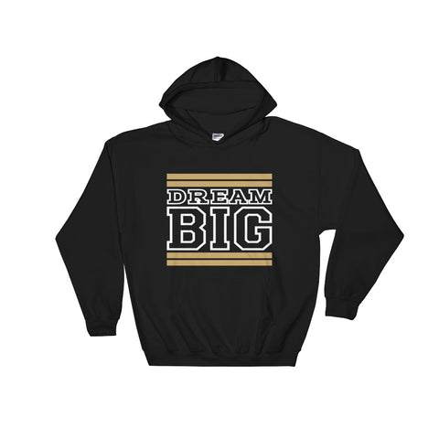 Black Tan and White Hooded Sweatshirt