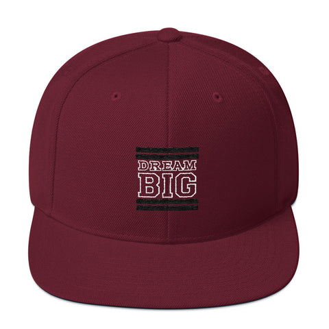 Maroon and Black Dream Big Snapback Hat