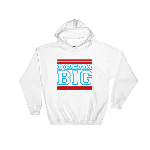 White Red and Carolina Blue Hooded Sweatshirt