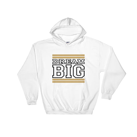 White Tan and Black Hooded Sweatshirt