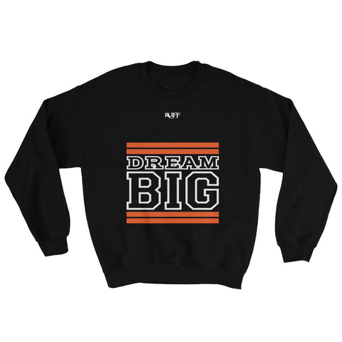 Black Orange and White Sweatshirt
