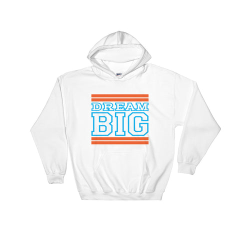 White Orange and Carolina Blue Hooded Sweatshirt