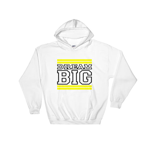 White Yellow and Black Hooded Sweatshirt