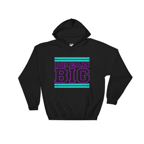 Black Teal and Purple Hooded Sweatshirt