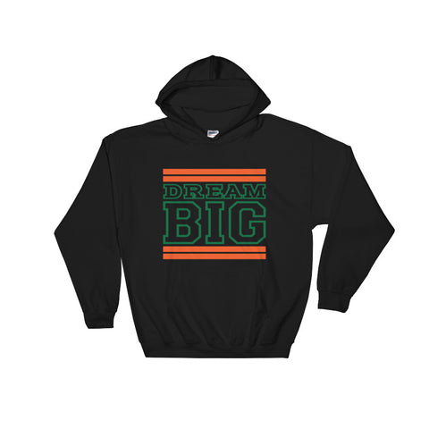 Black Orange and Green Hooded Sweatshirt